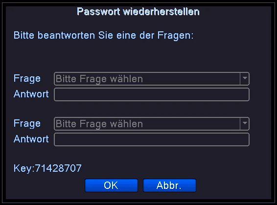 Passwortwiederherstellung