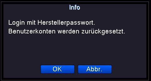 Passwort gelöscht