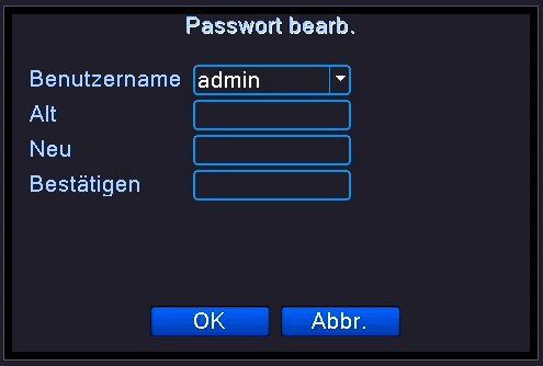 Passwort &aauml;ndern