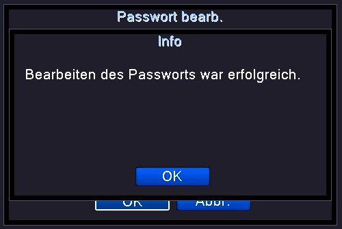 Passwort geändert